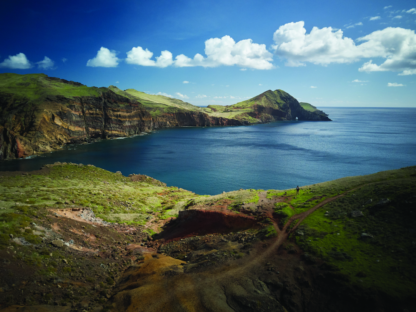 Madeira Funchal Mountains and Ocean